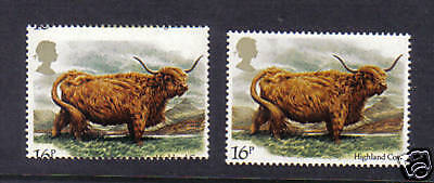1984 Cattle. 16p. Dramatic shift error. MNH. Scarce!