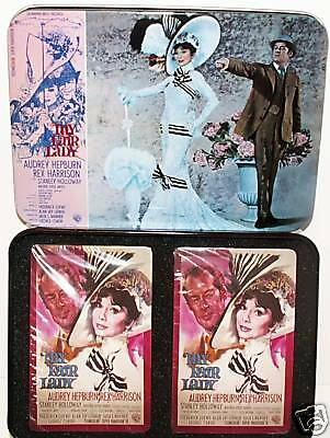 MY FAIR LADY Playing Cards & Tin Case! NEW!!!!!