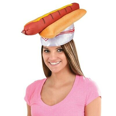 Hot Dog Hat Party Hat Hot Dog On a Bun Barbeque Hat 19723