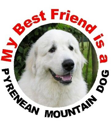 2 Pyrenean Mountain Dog Car Stickers By Starprint