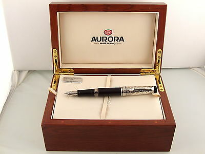 Aurora Optima Fountain Pen In 925 Sterling Silver