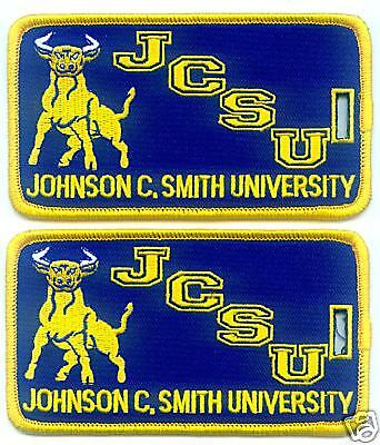JOHNSON C SMITH UNIVERSITY Luggage ID Tags (Set of 2) - Embroidered