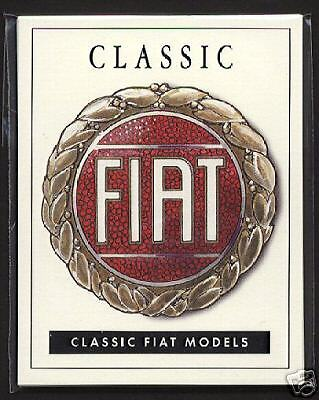CLASSIC FIAT Collectors Card Set - 500 Dino Spider 130 850 Coupe 124 Spider X1/9