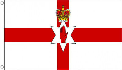 3' x 2' RED HAND of ULSTER FLAG Northern Ireland Irish