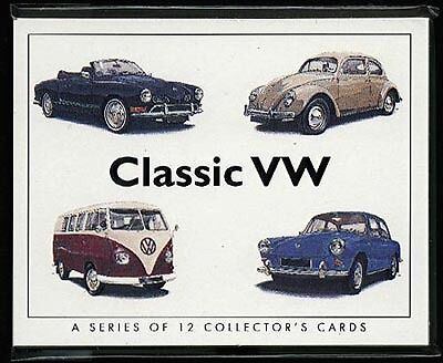CLASSIC VW - Collectors Cards inc  Beetle & Transporter