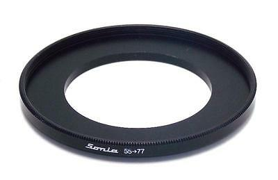 Metal Step up ring 55m to 77mm 55-77 Sonia New Adapter
