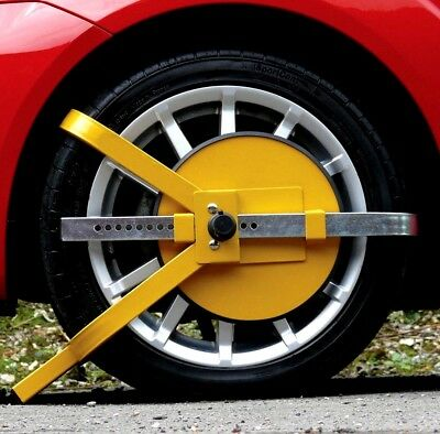 FULL FACE Wheel clamp lock car van caravan security HEAVY DUTY deterrent trailer