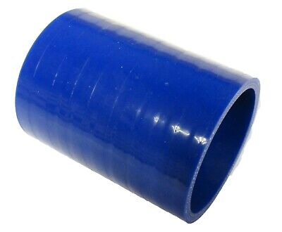 """BLUE Silicone Hose Coupler 51mm Straight (2"""" Silicon) Joiner"""