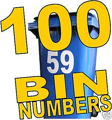 100 WHEELIE BIN NUMBERS earn £ home business in a box