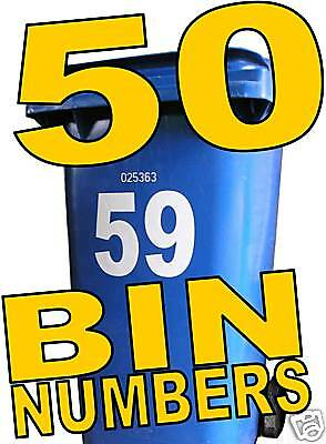 50 WHEELIE BIN NUMBERS make money from home buisness