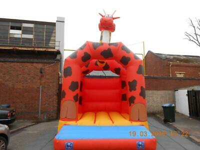 Giraffe With Head Bouncy Castle 11.5 FT X 11.5 FT Made To Order