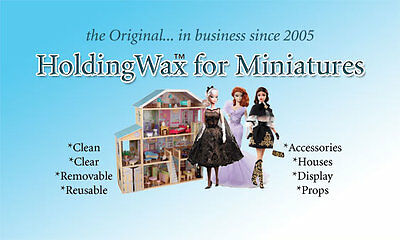 Museum Wax for Holding fine Collectibles, dollhouse miniatures, Antiques, jewels
