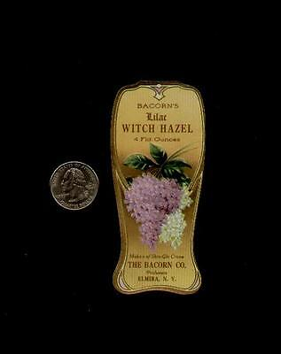 1910's BACORN'S LILAC WITCH HAZEL PERFUME LABEL - SUPER