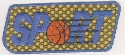 Orange Basketball Ball Sport Embroidery Applique Patch