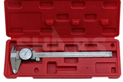 "SHARS 0-12 x 0.1/"" 4 WAY DIAL CALIPER STAINLESS STEEL SHOCK PROOF NEW"