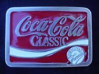 Nos Quality Coca-Cola Pewter Style Metal Belt Buckle