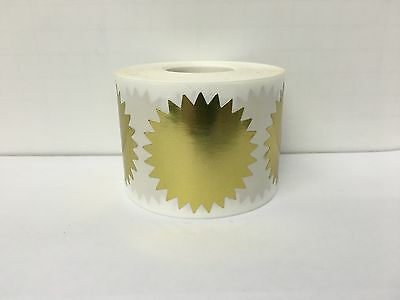 "500 Labels 2"" Gold STARBURST Mailing Shipping Multipurpose Stickers 1RL"
