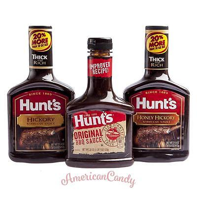 US Food: 3x HUNT's BARBECUE SAUCE 3 Sorten  (9,80€/kg)