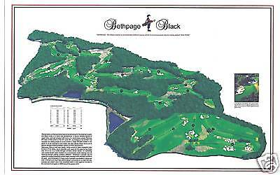 Bethpage Black 1936 A. W. Tillinghast -Vintage Golf Course Map site of 2019 PGA