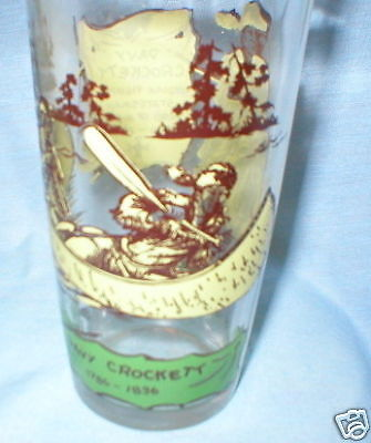 Davy Crockett Stretched Hide Peanut Butter GLASS NICE!!