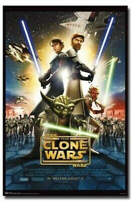 STAR WARS MOVIE POSTER The Clone Wars Movie Sheet RARE