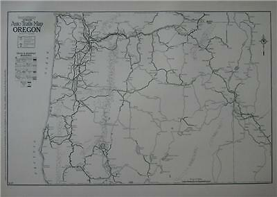 1926 Oregon Large Commercial Auto Road map*