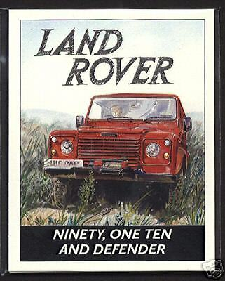 LAND ROVER  90, 110 & DEFENDER - Collectors Card Series - Ninety One-Ten models