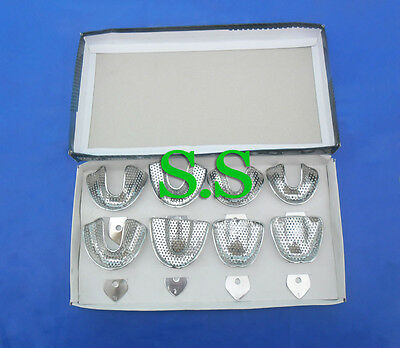 08 pcs Dental Impression Trays Perforatted Instruments