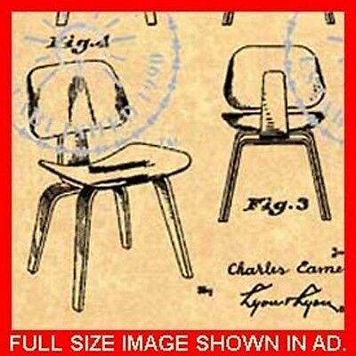 EAMES CHAIR PATENT - Mid Century Modern 1949 #030.5