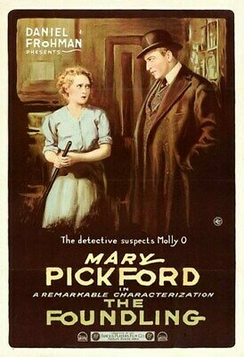 THE FOUNDLING MOVIE POSTER Mary Pickford RARE VINTAGE
