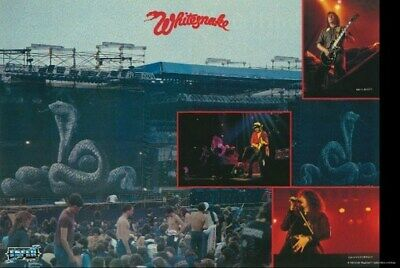 WHITESNAKE POSTER Live on Stage Collage RARE HOT NEW