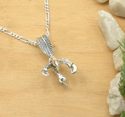 Horse & Western Jewellery - Sterling Silver Native  Style Eagle  Claw Necklace