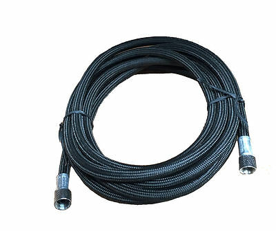Rdgtools Black Airbrush Braided Hose / Best Quality 1/8 - 1/8 Compressor