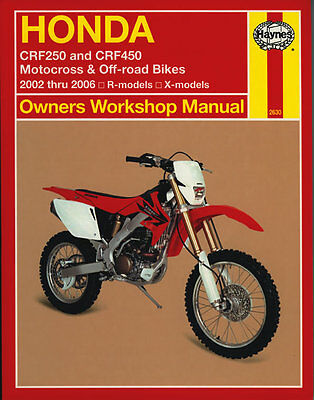 Haynes Manual 2630 - Honda CRF250 & CRF450 (02 - 06) workshop/service/repair