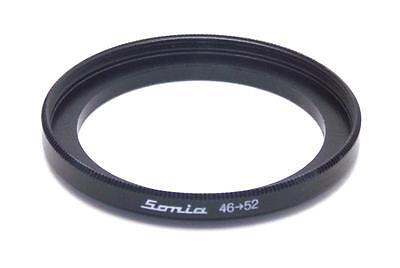 Metal Step up ring 46mm to 52mm 46-52 Sonia New Adapter