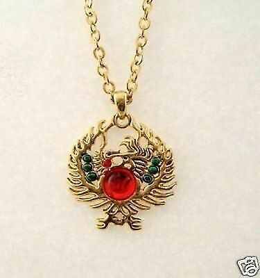 New Mystica Accessory Golden Phoenix Dragon Necklace