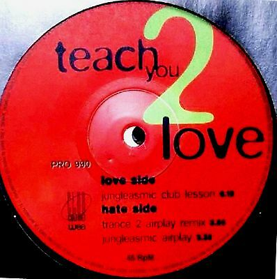 """12"""" - Zed - Teach You 2 Love (HOUSE) NUEVO - NEW, STOCK STORE"""