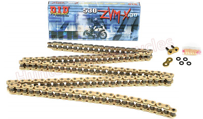 Suzuki GSF1250 Bandit 2007 to 2009 Model DID Gold X-Ring Drive Chain