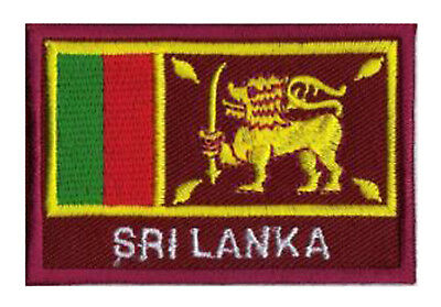 patch Ecusson brodé écusson patche drapeau SRI LANKA 70/45 mm