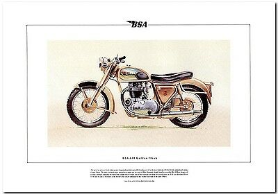 BSA GOLDEN FLASH A10 - FINE ART PRINT - Limited Edition
