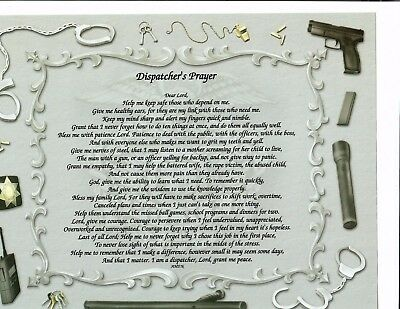 Dispatcher Voice Poem Personalized Name Prayer Art ~