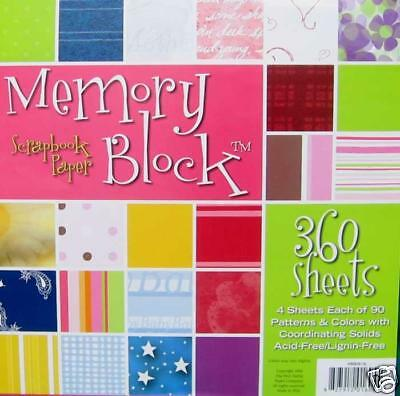 MemoryStor 360 Sheets 90 Patterns Scrapbook Papers NEW