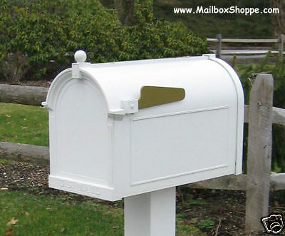 Whitehall Mailbox - Cast Aluminum Post Mount Mail box