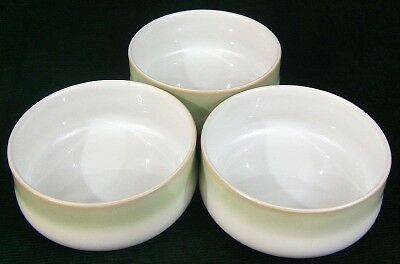 Three Green DENBY ENGLAND Cereal-Soup Bowls