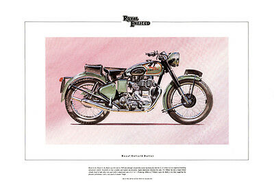 Royal Enfield Bullet Classic Motorcycle Fine Art Print - Limited Edition of 850