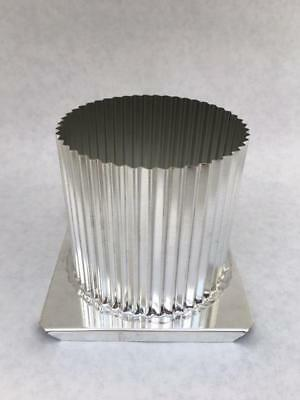 """Pillar Candle Mold ~ Fluted Round  3"""" x 4""""  Metal"""