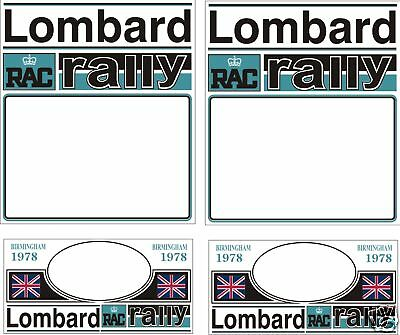1978 Lombard Rally Plate Decal Set