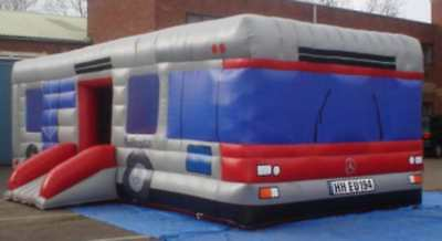 Inflatable Bus  14 FT x 30 FT  Made To Order