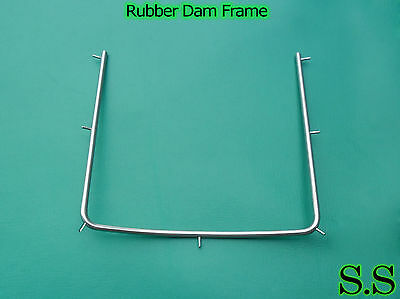 6 Rubber dam Dental Frame Holder 4x4 Surgical Instruments