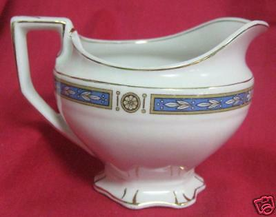 GRINDLEY MONMOUTH ANTIQUE BLUE BAND CREAMER